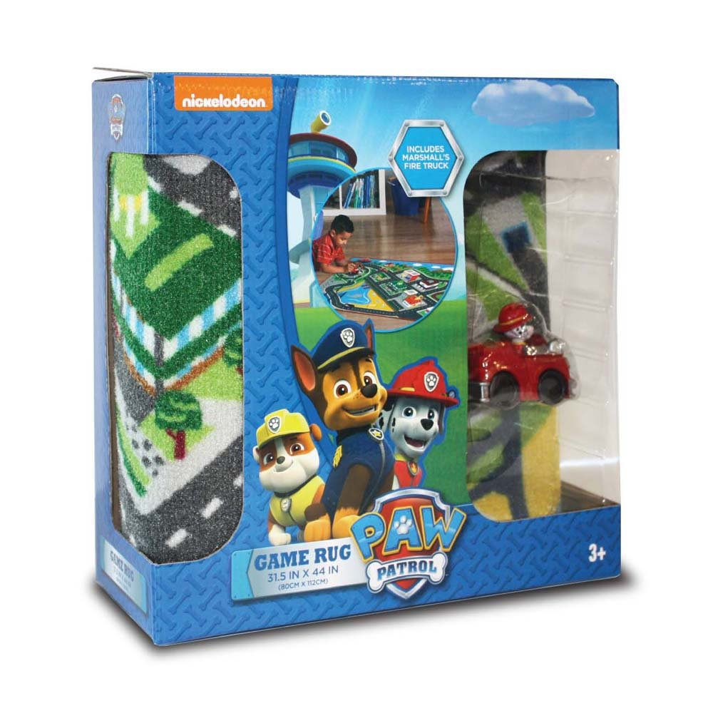 """Nickelodeon Paw Patrol Toys Rug: Marshall in Fire Truck Toy Car Adventure Bay Kids Game Rugs Throw Play Mat, 32""""x44"""""""