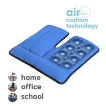 Dr. air Seat Cushion, Non-Slip Orthopedic Support Cushion, Back, Sciatica, Coccyx and Tailbone Pain, Home, Office, School, Car (Blue)