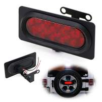 iJDMTOY Rear Spare Tire Mount LED Brake/Tail Light Kit Compatible With 2007-2017 Jeep Wrangler JK, Brilliant Red