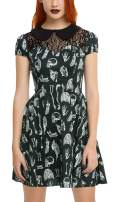 For G and PL Women's Halloween Peter Pan Collar Lace Stitching Dress