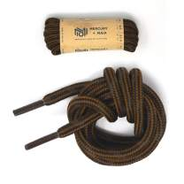 Mercury + Maia Honey Badger Work Boot Laces Heavy Duty W/Kevlar - USA Made (Chestnut and Black)