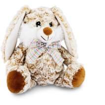 JUJIAN Plush Easter Bunny Rabbit Stuffed Animal 10'' Soft and Cuddly Lop Bunny Plush Toy Kids Toddlers Gifts(Caramel) (Caramel)