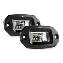 MICTUNING Flush Mount Led Pods, 2Pcs 20W Flood Cree Led Light Bar, Off Road Backup Driving Lights Fog Lamp for Jeep Bumper ATV UTV SUV Truck Boat