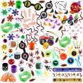 FUNNISM 145 Pieces Halloween Toys Assortment Halloween Party Favor, School Classroom Rewards, Trick Treating, Halloween Miniatures, Halloween Prizes