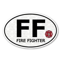 Firefighter Oval DECAL (non-magnetic!)
