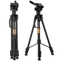 K&F Concept 60 inch Aluminum Travel Tripod with Lightweight Carry Bag for Digital SLR DSLR Camera TL2023