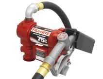 Fill-Rite FR4410G 24 Volt DC Hi-Flow Fuel Transfer Pump with 1 Inch x 12 Foot Hose, and 1 Inch Manual Nozzle