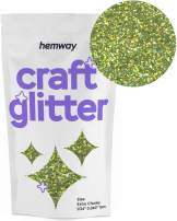 """Hemway Craft Glitter 100g 3.5oz Extra Chunky 1/24"""" 0.040"""" 1MM (Lime Green Holographic)"""