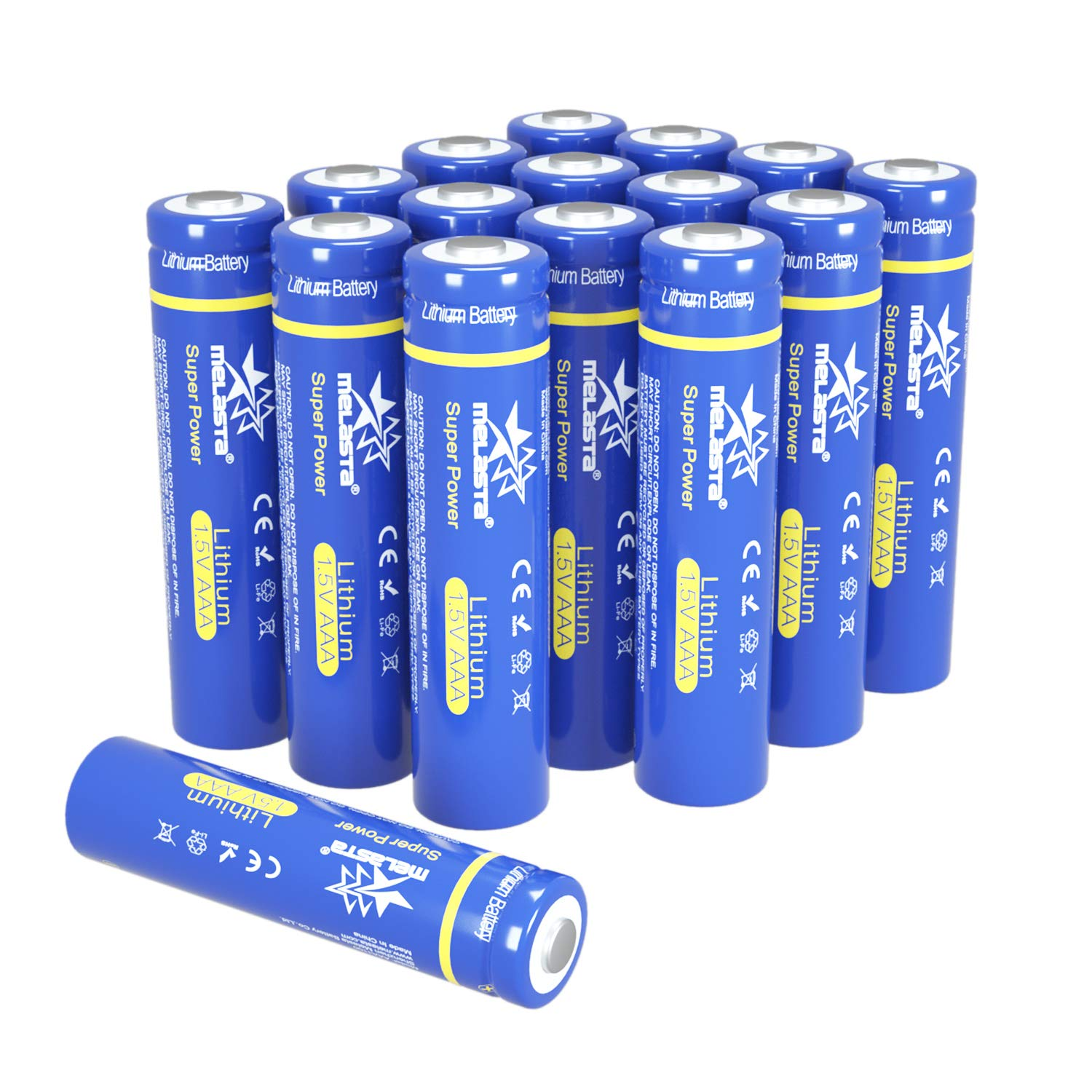 melasta AAA Lithium Batteries, 16-Pack 1.5V 1100mAh Long-lasing Triple A Battery Replacement for AAA Alkaline Batteries (Non-Rechargeable)