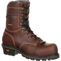 "Georgia Men's Boot Amp Lt 9"" Waterproof Logger Round Toe - Gb00235"