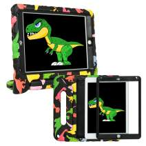 HDE Case for iPad Air 2 - Kids Shockproof Bumper Hard Cover Handle Stand with Built in Screen Protector for Apple iPad Air 2-2014 Release 2nd Generation (Colorful Dino)