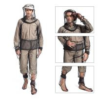 Lixada Mosquito Suit,Repellent Bug Jacket Mesh Hooded Suits Unisex Ultra-fine Mesh Insect Protective for Fishing Hiking Camping Gardening