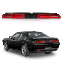 MOSTPLUS LED Tail Lights for Dodge Challenger 08-14 LED Rear Lights Sequential Indicator Assembly (Red Lens)