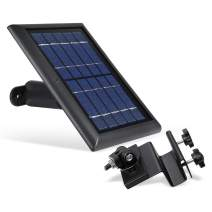 Wasserstein Solar Panel and Weatherproof Gutter Mount Bundle Compatible with Spotlight Cam Battery (Black)