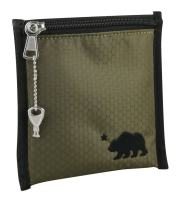 Cali Crusher 100% Smell Proof Pouch w/Locking Key (6in x 6in) (Olive Green)