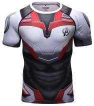 Red Plume Men's Crewneck Short Sleeve T-Shirt/Sports& Fitness T-Shirt for Men