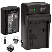 BM Premium NP-FV50 Battery and Battery Charger for Sony DCR-SX44 DCR-SX45 HDR-PJ200 HDR-PJ230 HDR-PJ380 HDR-PJ430V HDR-PJ650V HDR-PV790V HDR-TD30V Handycam Camcorder + More!!