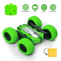 Remote Control Car Electric 4WD RC Cars Stunt Car Toy Off Road Vehicle 2.4Ghz Racing Cars 360° Flips Kids Toy Cars for Boys & Girls Birthday Gift (Green)
