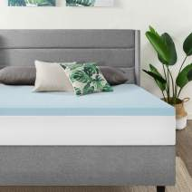 Best Price Mattress California King Mattress Topper - 1.5 Inch Gel Memory Foam Bed Topper with Cooling Mattress Pad, Cal King Size