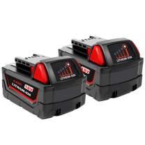 2-Pack 4000mAh 18V Battery for Milwaukee Lithium Battery 48-11-1820 48-11-1840 48-11-1850 48-11-1828 48-11-1815