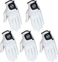 Strike Golf Five-Pack (5pk) All-Leather White Soft Cabretta Leather Men's Golf Gloves