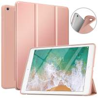 MoKo Case Fit 2018/2017 iPad 9.7 6th/5th Generation, Slim Smart Shell Stand Folio Case with Soft TPU Back Cover Compatible with iPad 9.7 Inch 2018/2017, Auto Wake/Sleep - Rose Gold