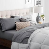 Brookside - Tencel Sheet Set - Luxurious Feel - Great for Sensitive Skin - Sateen Weave - Eco Friendly - Split King - Slate