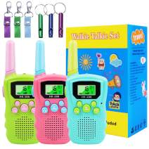 Walkie Talkies for Kids 3 Packs, Long Range Interphone, Support Voice Activation(VOX) Talking, Best Gifts & Toys for 3-12 Year Old Boys Girls, Outside Adventure Game, Camping, Hiking
