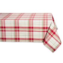 "DII Orchard Plaid Square Tablecloth, 100% Cotton with 1/2"" Hem for Holiday, Family Gatherings, & Christmas Dinner (60x84"" - Seats 6 to 8)"