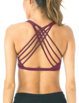QUEENIEKE Womens Yoga Sport Bra Light Support Strappy Free to Be Bra 77889