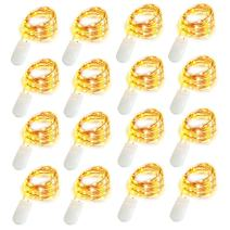 16 Pack 10ft 30 Micro Starry LED String Lights Bulk Waterproof Gold Fairy Bunch Lights Battery Operated Indoor Outdoor Mini Firefly Starry Copper Wire Light for DIY Wedding Party Christmas Decorations