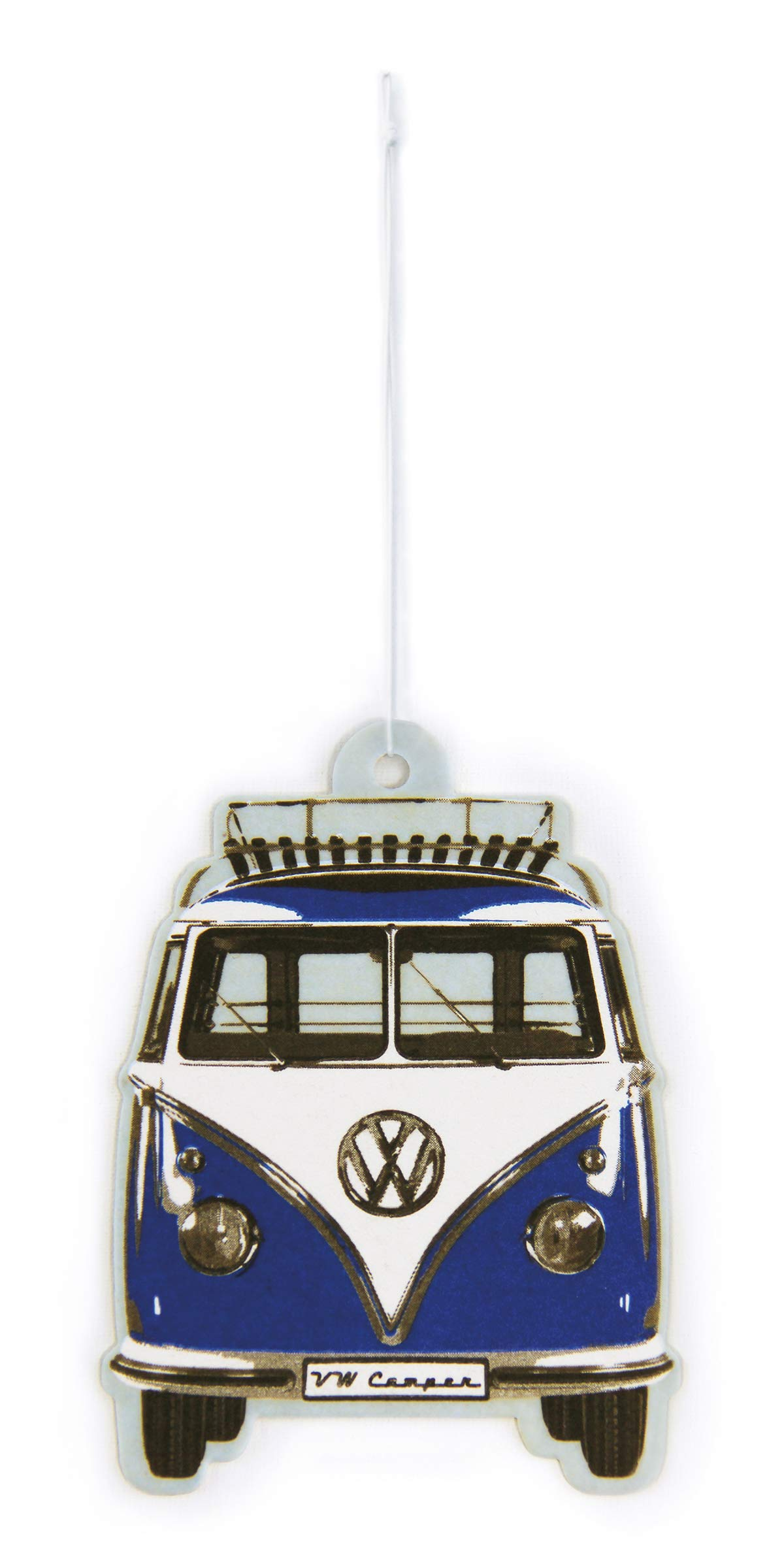 BRISA VW Collection - Volkswagen Scented Car Air Freshener Fragrance Deodorizer for Car/Auto or Home with Volkswagen Samba Bus T1 Camper Van Front Design (Ocean/Blue)