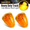 Partsam 2X Torpedo Cab Marker Top Roof Running Lights Amber 17LED Replacement Lens Compatible with Kenworth/Peterbilt/Freightliner/Mack