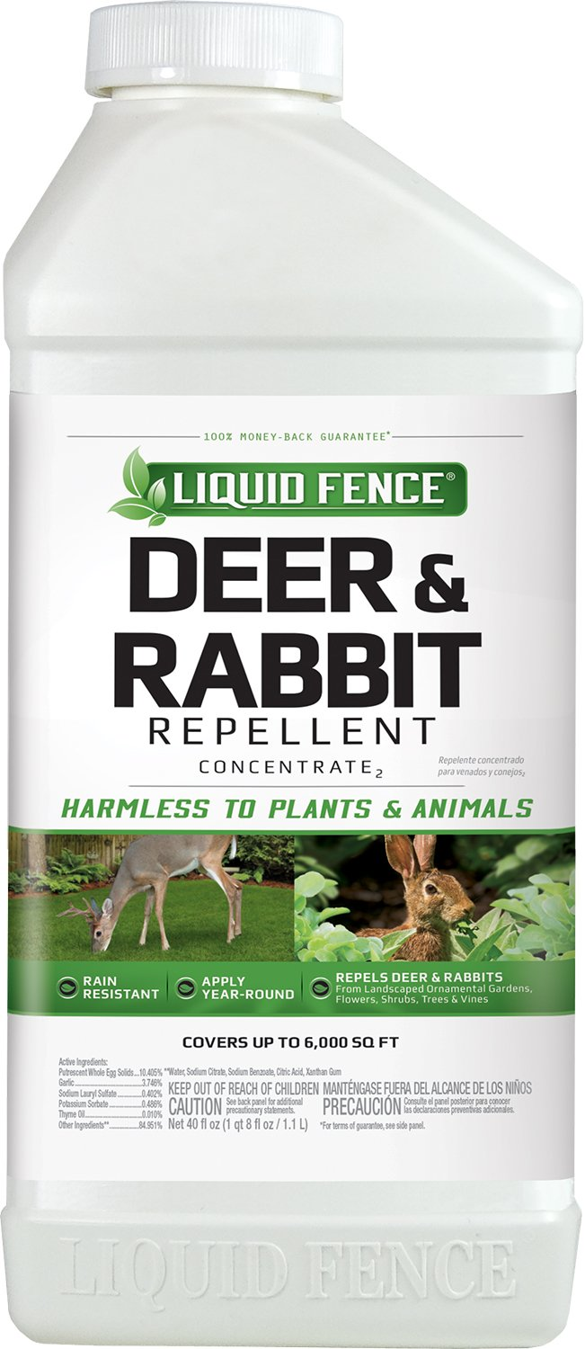 Liquid Fence Deer & Rabbit Repellent Concentrate, 40-Ounce, 6-Pack
