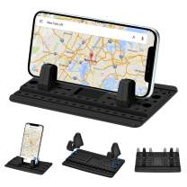 Dashboard Cell Phone Mount, Universal Silicone Anti-Slip Car Phone Holder for Car Cradle Compatible Most of Smartphones (Black)