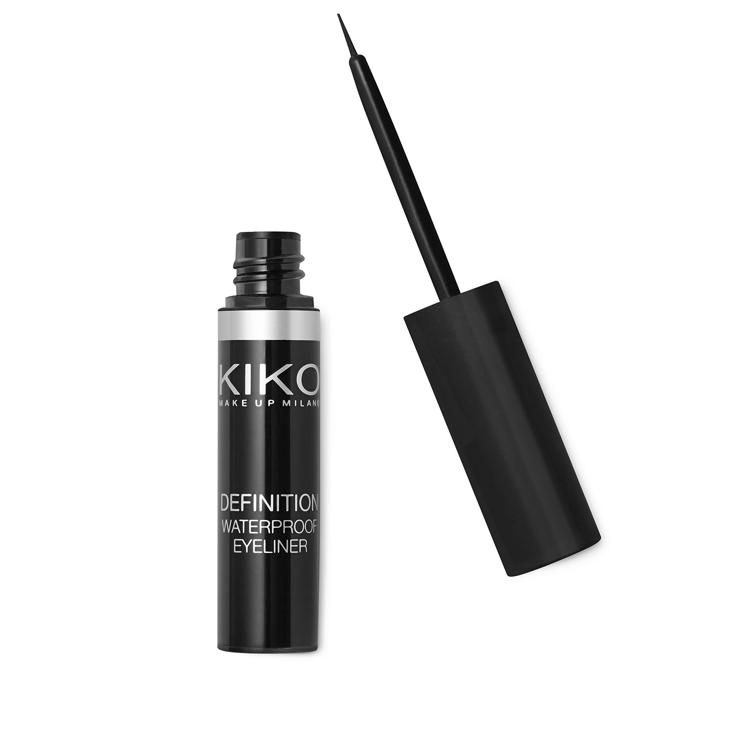 KIKO MILANO - Definition Waterproof Eyeliner - Long Lasting Liquid Eyeliner Black   Water Resistant   Hypoallergenic Eyeliner   Professional Cruelty Free Makeup   Made in Italy