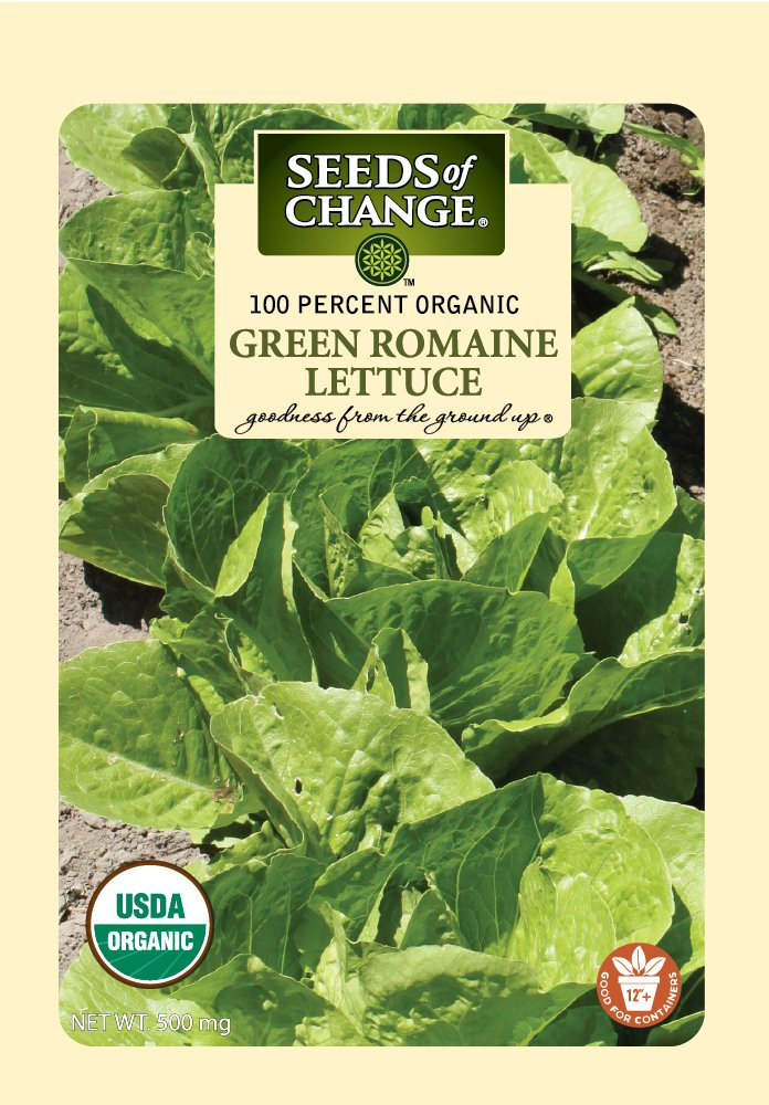 Seeds Of Change 8179 Certified Organic Green Romaine Lettuce