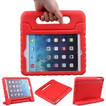 LEFON Kids Mini Case Shockproof Convertible Handle Light Weight Super Protective Stand Cover Case for Apple iPad Mini 3rd Gen/Mini 2 / Mini 1 (Red)