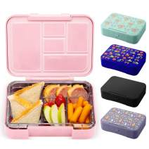 Simple Modern Porter Bento Lunch Box for Kids - Leakproof Divided Container with 5 compartments for Toddlers, Men, and Women -Blush