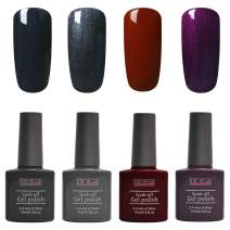 Gel Nail Polish Set ULG Autumn Fall Winter Dark Color UV LED Soak Off Gel Polish Manicure Kit