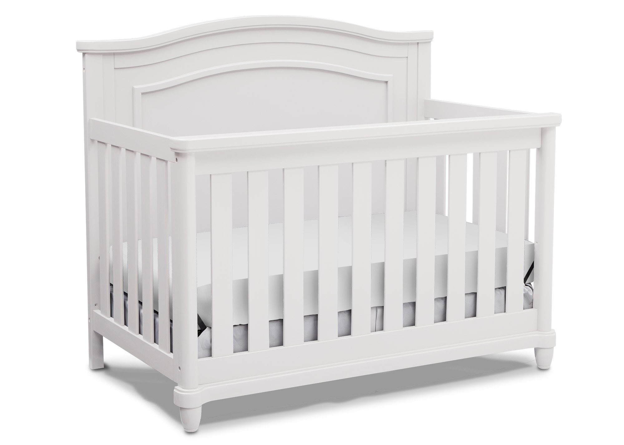 Simmons Kids Belmont All-in One Convertible Crib and Rail Kit, Bianca