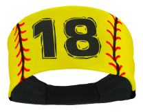 MadSportsStuff Softball Headband for Girls with Jersey Number (Numbers 00-39)