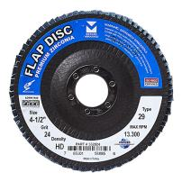 "Mercer Industries 332024 Zirconia Flap Disc, High Density, Type 29, 4-1/2"" x 7/8"" Grit 24, 10 Pack"