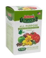 Jobe's Organics All Purpose Fertilizer 5-2-3 Water Soluble Plant Food Mix with Biozome, 10 oz Box Makes 30 Gallons of Organic Liquid Fertilizer