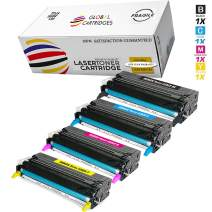 Global Cartridges Remanufactured Toner Cartridges Set Replacement for Xerox Phaser 6280 , 6280DN , 6280N ( Black,Cyan,Yellow,Magenta)