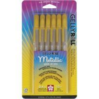 Sakura 57383 6-Piece Gelly Roll Metallic Gel Pen Set, Bold, Gold