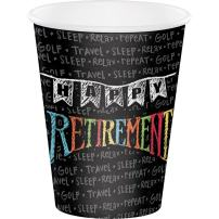 Creative Converting 375977 96 Count 12 oz Hot/Cold Paper Cups, Retirement Chalk