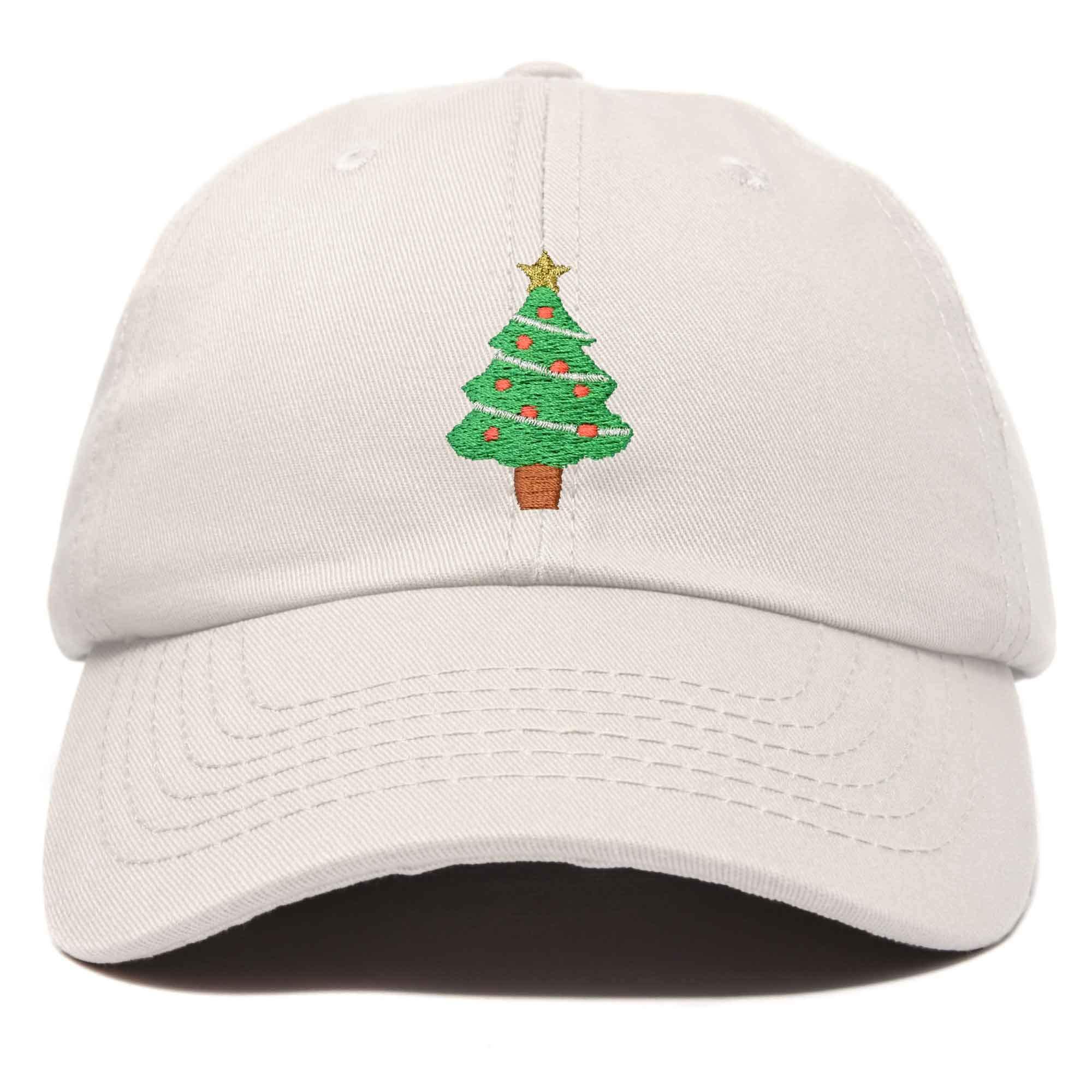 Xmas Holidays Christmas Tree Ball Cap Embroidered Hat