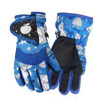 LuvnFun Kids Snow Gloves Waterproof Ski Gloves for Boys & Grils -Winter Warm Gloves for Cold Weather