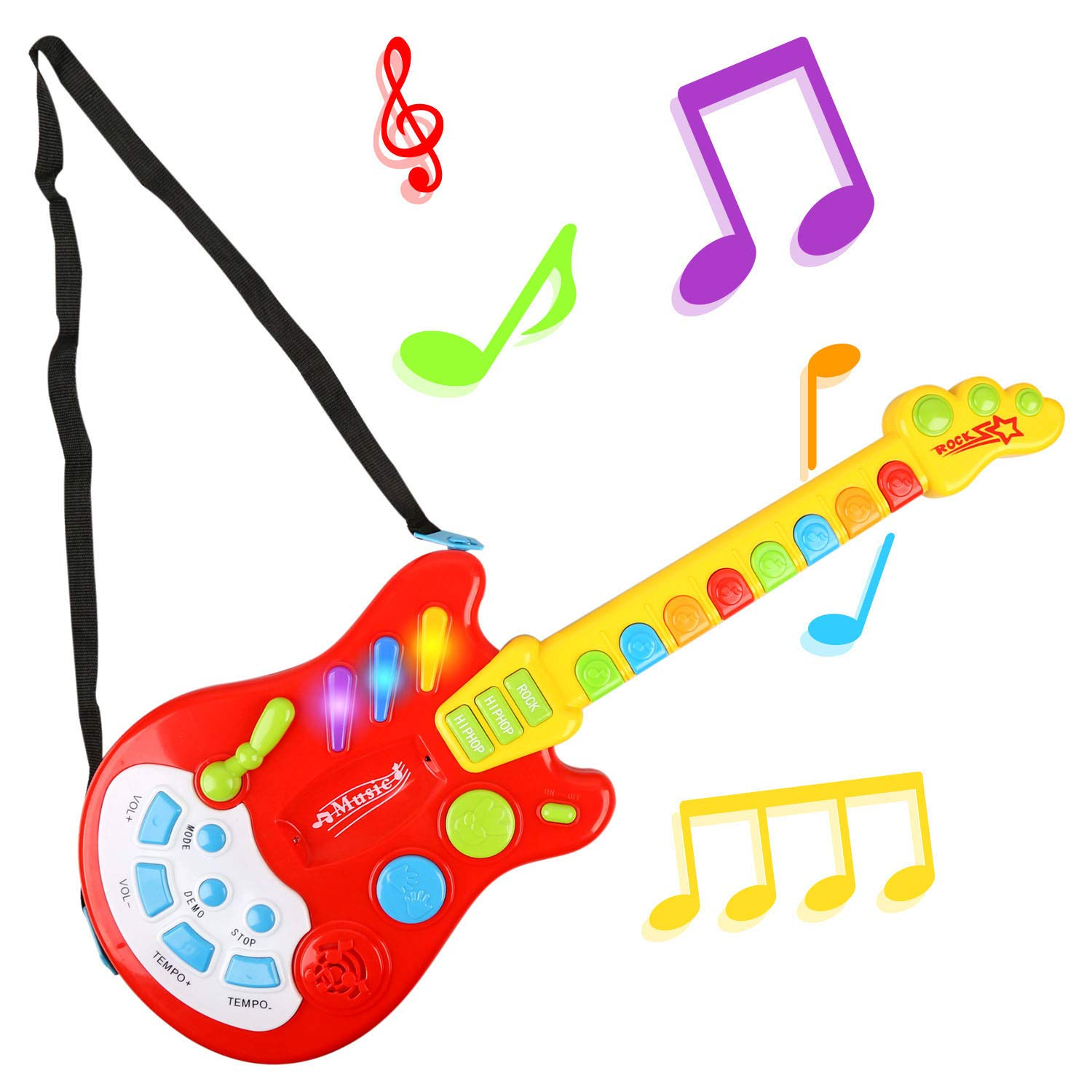 Urban Kit Electric Guitar Toy with Sound and Lights   Baby Electric Guitar   Toy Guitar for Toddlers   Music Toy Guitar   Guitar for Kids Ages 3 and Up